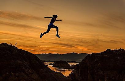 jumping over ravine