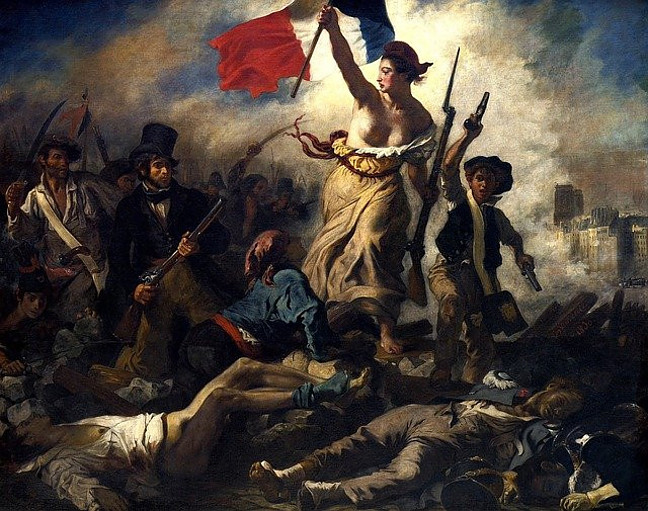 painting of french revolution