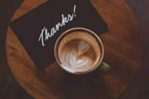 Thanks and coffee