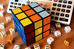 Unsolved Rubix cube